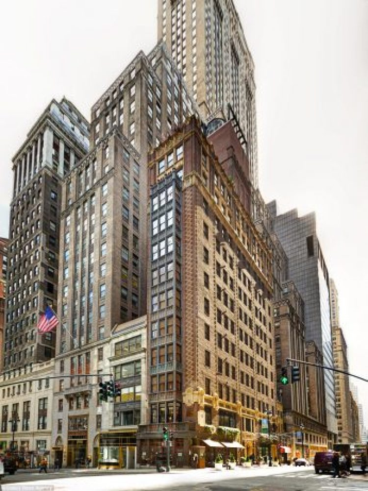 The Library Hotel is located at Madison Avenue and 41st Street in Manhattan, just steps from the New York Public Library