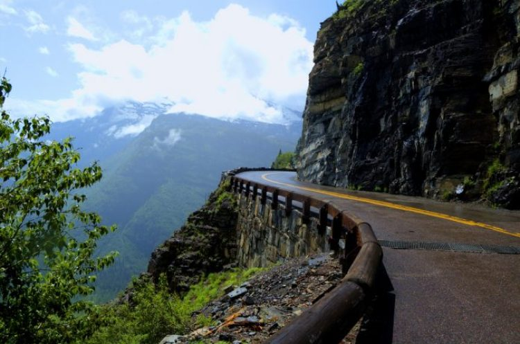 Going-to-the-Sun Road was completed in 1932 and is a spectacular 50 mile, paved two-lane highway that bisects Glacier National Park east and west.