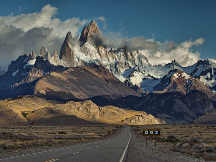 The Road Leading To The Mountain Of Fitz Roy