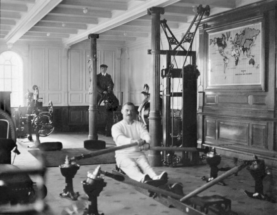 Gym aboard the Titanic, c. 1912