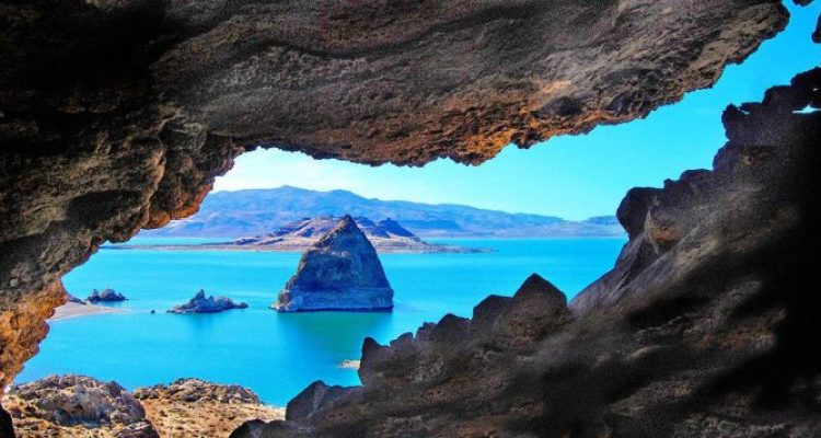 The Pyramid lake scenery is remarkable, surrounded by rare rock formations