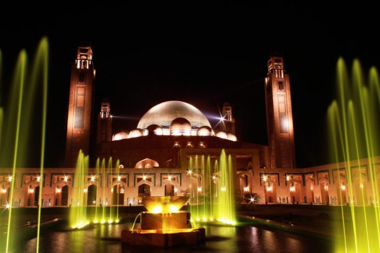 Grand Jamia Mosque is a mosque located in Bahria Town, Lahore, Pakistan. It is the third largest mosque in Pakistan. It was inaugurated on Eid-ul-Adha on 6 October 2014.