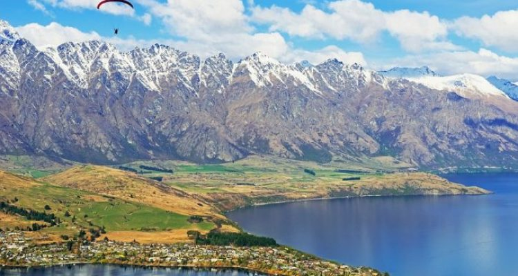 Paragliding over Remarkables Mountain Range is an incredible way to see the snow-capped mountains and lakes from above
