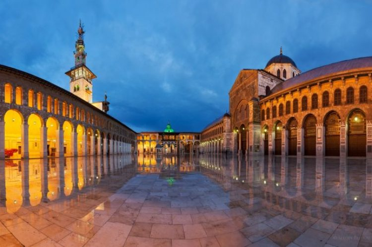 The Umayyad Mosque, (Great Mosque of Damascus) located in the old city of Damascus, is considered one of the largest and oldest mosques in the world.