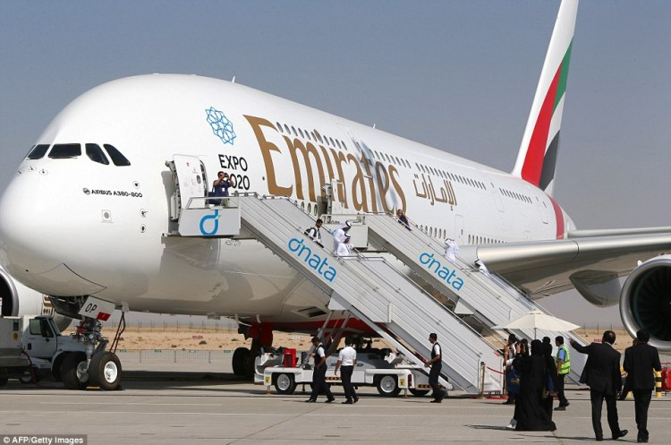 Emirates' first two-class A380 was delivered to the Dubai Airshow this week and will be used on the carrier's Dubai-Copenhagen route