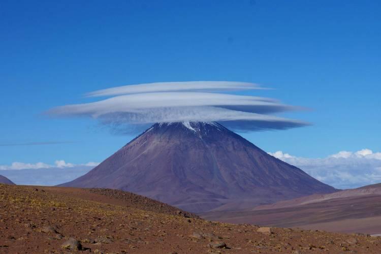 Clouds covering the Licancabur