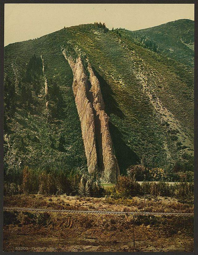 The Devil's Slide Photochrom print, 1898