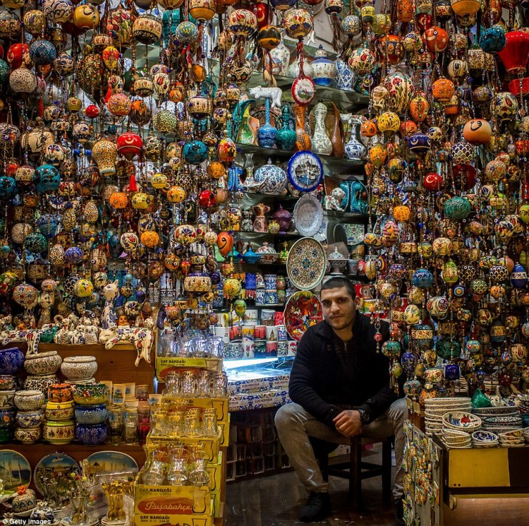 You could spend hours in Hasan Ayazgok's shop in the Grand Bazaar checking out all the traditional Turkish fare