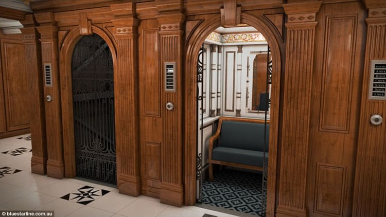 First class passengers on board the Titanic sailed in the lap of luxury and had access to electric lifts with attendants and sofas