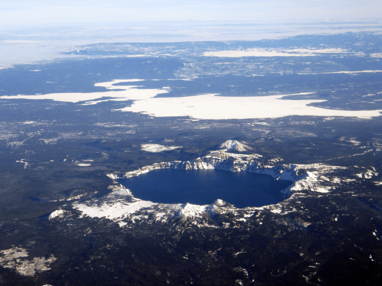 The Crater Lake is famous due to its deep blue color and water clarity. This is deepest lake in United States and 7th in the world with the depth of around 1943 feet,