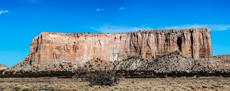 Enchanted Mesa or Mesa Encantada is a sandstone butte in Cibola County, New Mexico, United States, about 2.5 miles northeast of the pueblo of Acoma.
