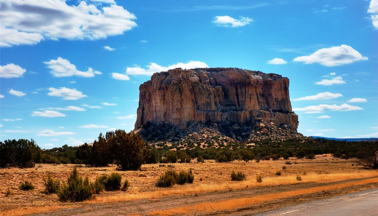 The Acoma people abandoned Enchanted Mesa and moved to White Rock Mesa, now called Acoma.