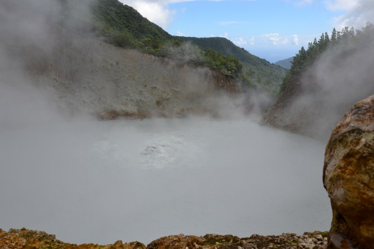 Dominica's Boiling Lake is the 2nd largest hot lake in the world after Frying Pan Lake, located in Waimangu Valley near Rotorua, New Zealand.