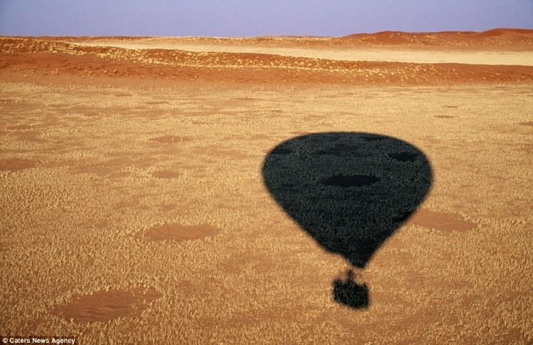 The best way to see the fairy rings is from the air, either by balloon