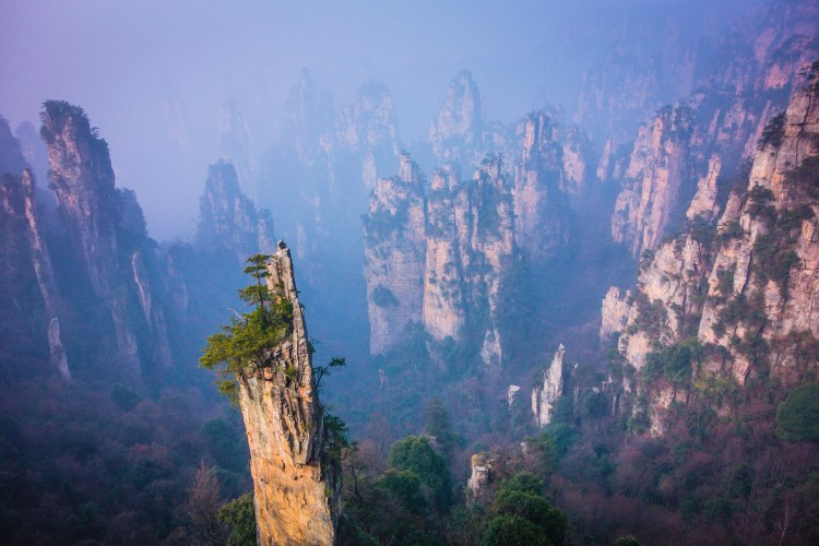 Therefore, upto 1,400 sightseers get the rare experience of stomach-churning ride which offers a breathtaking views across Zhangjiajie's distinguished sandstone pillars, whispered by some to be the inspiration for the 'floating peaks' in the film, Avatar.