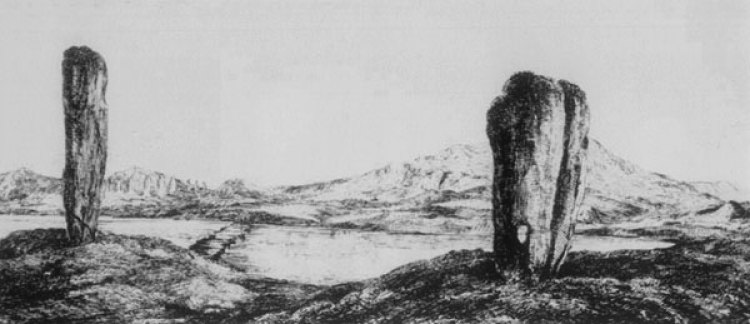 The Odin Stone (right) and the Watch Stone