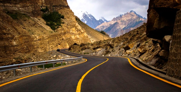 This project is named economic corridor of Pakistan / China trade route and reconstruction and upgrade works on the Pakistani portion of the Karakoram Highway are underway.