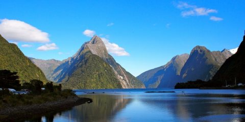 There are six routes up to Mitre Peak, and most climbers start by getting a boat to Sinbad Bay.