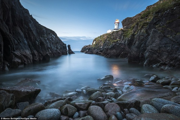 'Ireland has always been one of the most fascinating lands in Europe.' Pictured above is Fanad Head in County Donegal, Republic of Ireland