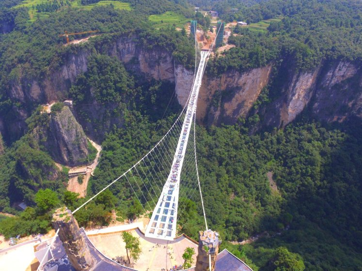It is easily called world's highest and longest glass bottomed bridge.