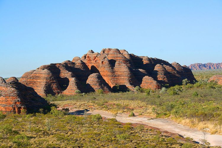 The Bungle Bungle Range, in Purnululu National Park, is one of the most attractive geological landmarks in Western Australia.