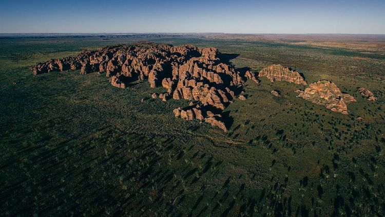 . The Bungle Bungle Range formation occupies an area of nearly 450 square kilometers.