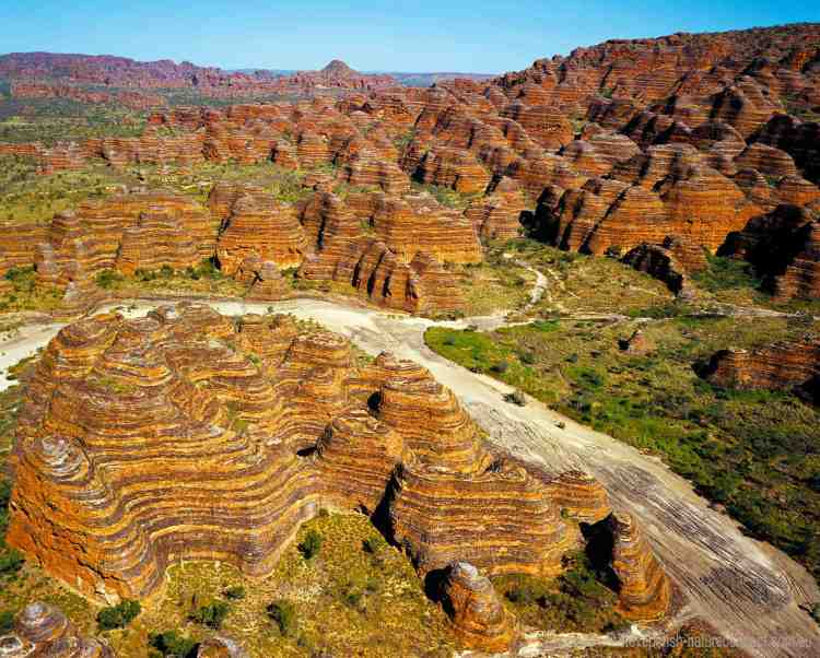 The range remained largely unidentified except by local Aborigines and stockmen until 1982 when film-makers arrived in this area and produced a documentary about the Kimberley.