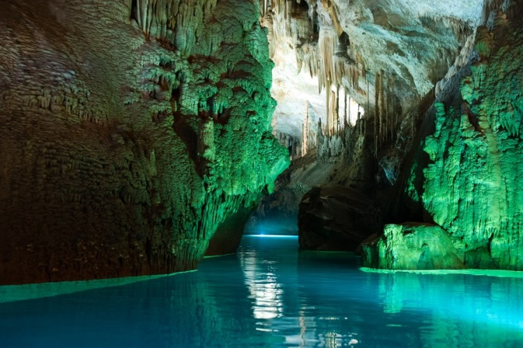 The Jeita grotto is the longest explored cave in Lebanon, hosts approximately 280,000 visitors per year.