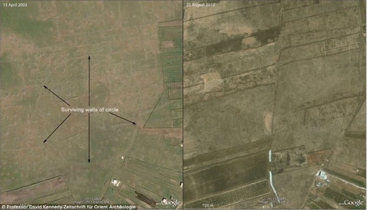 In addition to the 12 circles in Jordan, a more recent Big Circle was spotted on satellite imagery in 2002 near Homs in Syria