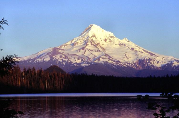 Mount Hood as seen from Lost Lake, Oregon
