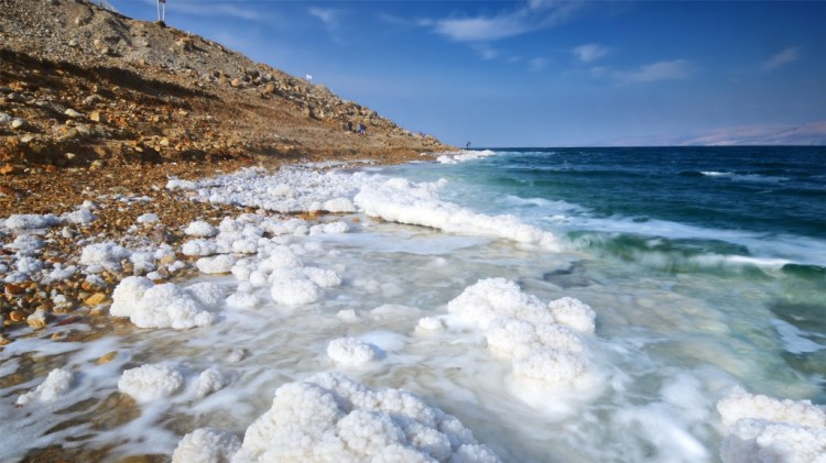 Dead Sea is a closed lake, which lies between Jordan and Israel, located 394 meters below the sea level. Dead Sea length is 67 kilometers and the width at the maximum point amounts 18 kilometers.