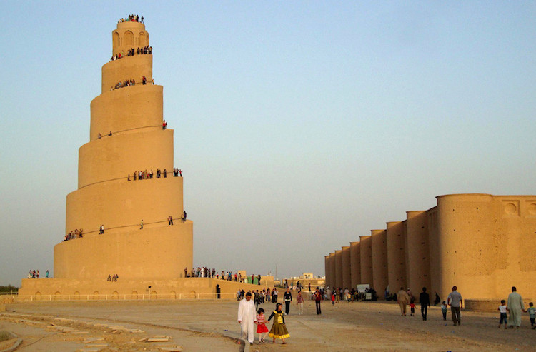 The minaret's unique spiral design was given a new life during the war in Iraq, as US troops used it for observation. Sadly, in 2005,