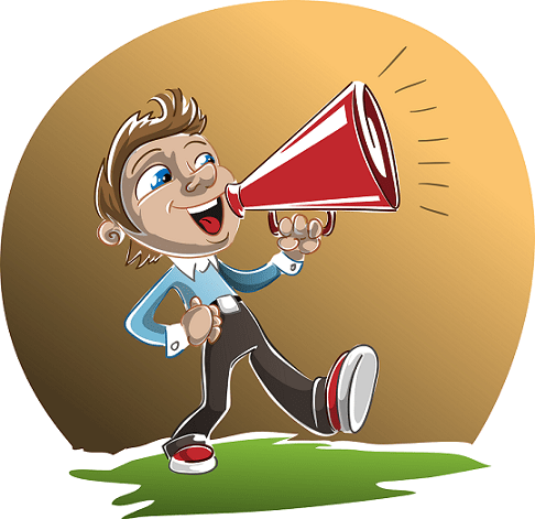 carrying a megaphone to broadcast your ideas, not a good way to succeed as an entrepreneur