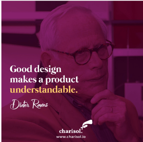 UX Design - good design makes a product understandable