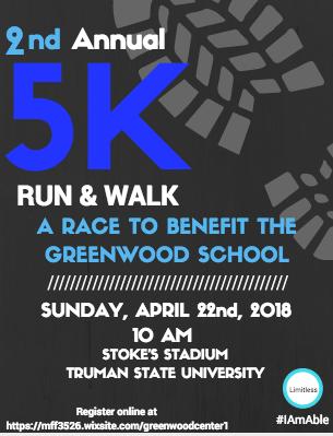 Greenwood school 5k benefit flyer