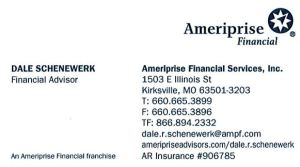Dale Schenewerk Business Card