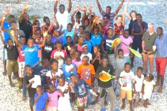 Gruppe Haitianischer Kinder