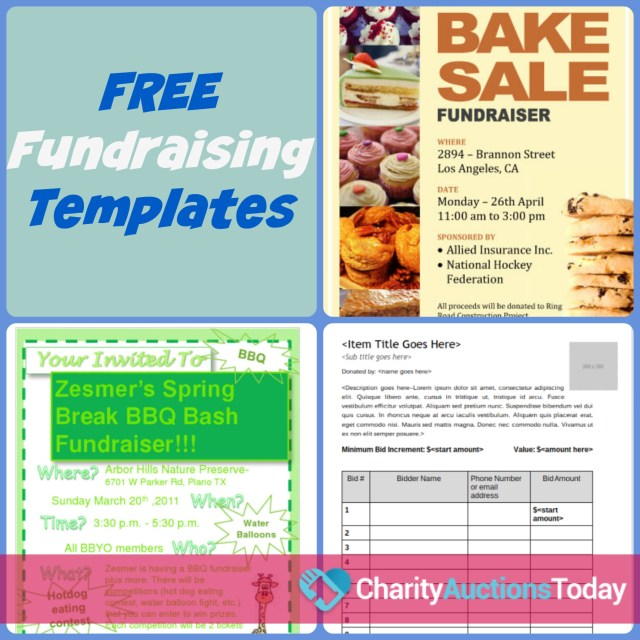 Free Printable Fundraiser Flyer Templates  Free Download