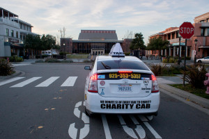 Taxi cab in front of Bankhead Theater in Livermore, CA