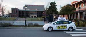 Charity cab drives through town as a taxi in livermore, ca service