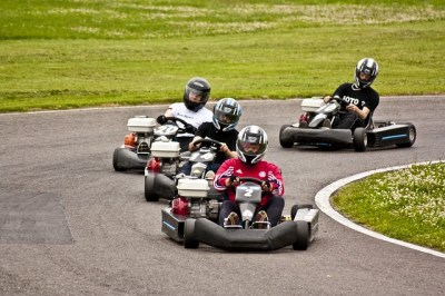 easter go kart racing in Livermore, CA.