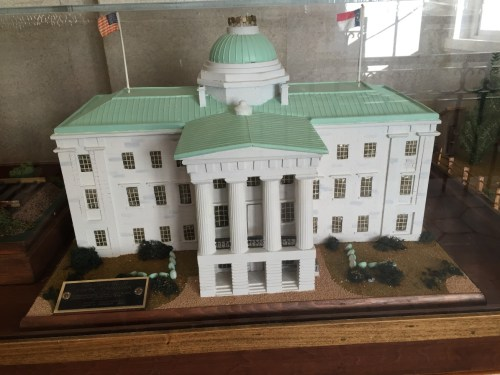 Model of the NC State Capitol, circa 1880