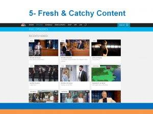 Charitynet usa website tips fresh and catchy content