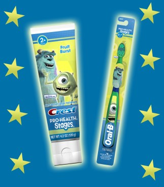 monsters inc toothpaste and toothbrush