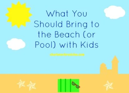 what to bring to the Beach with kids
