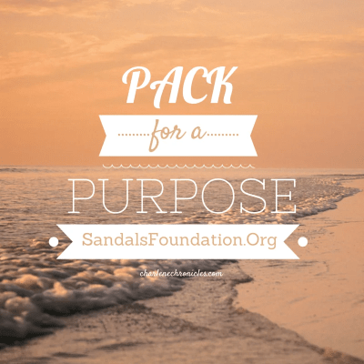 pack for a purpose sandals foundation