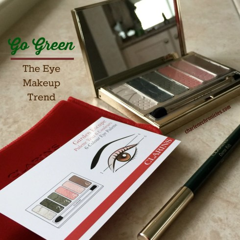green eyeshadow charlene chronicles charlene deloach clarins