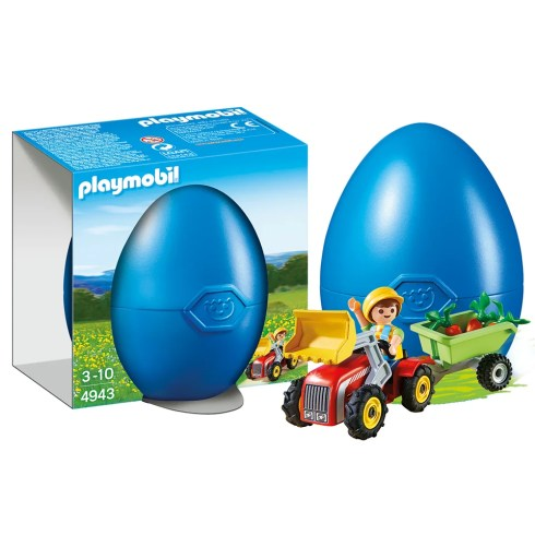 PLAYMOBIL_4943_Boy with Children's Tractor_Easter Egg