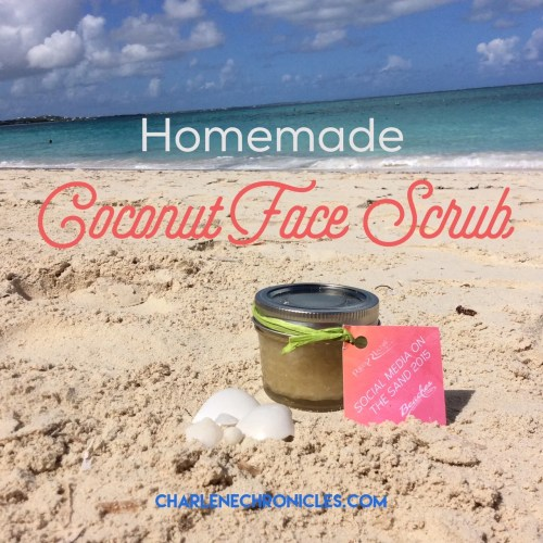 homemade coconut face scrub