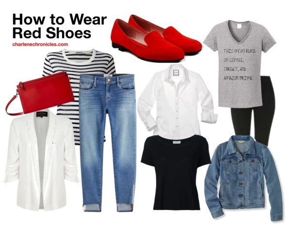 red shoes outfit ideas